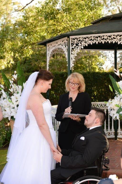 Lexie and David ceremony
